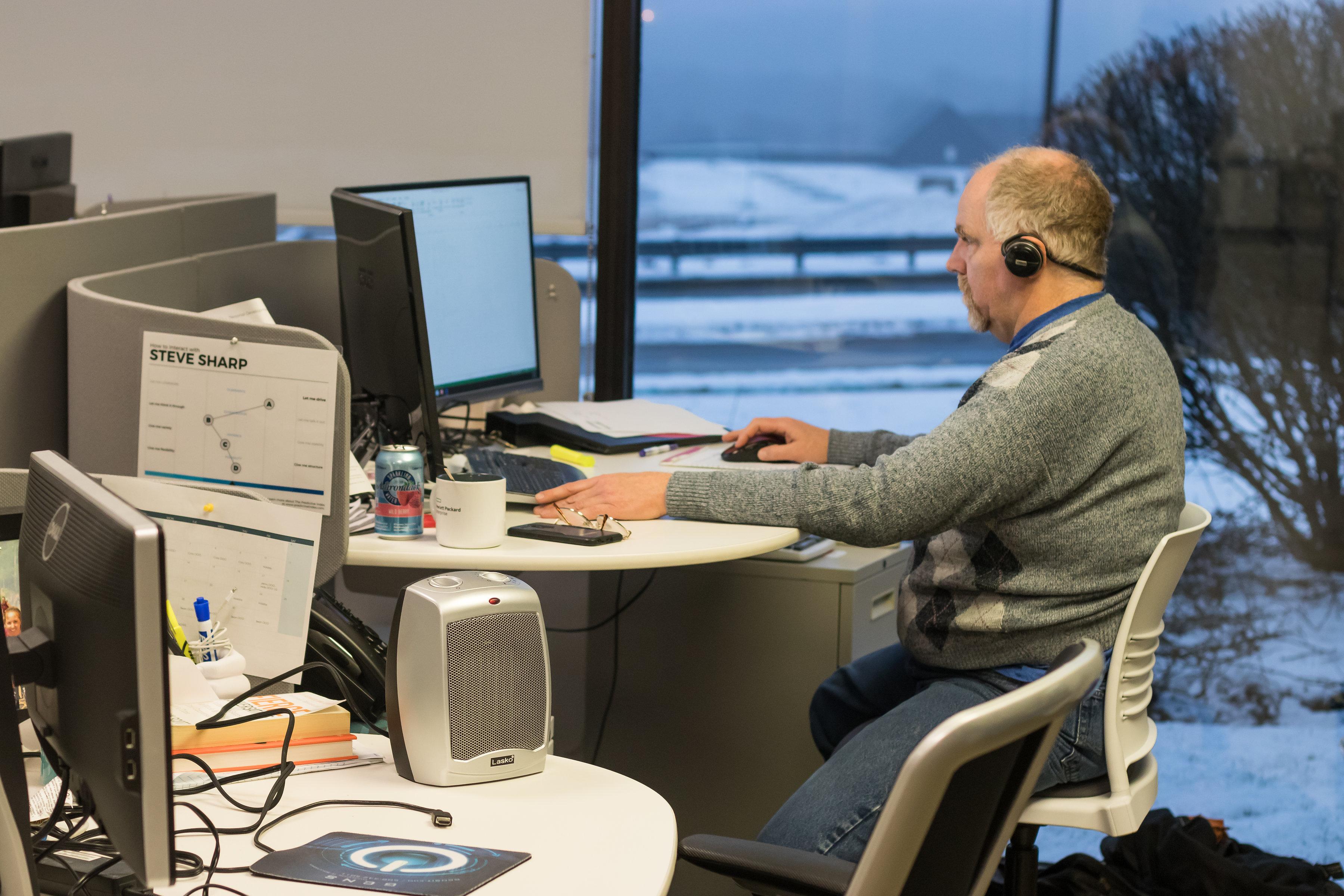 Steve hard at work