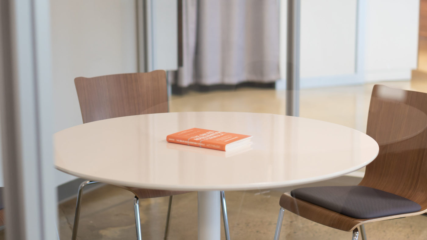Leadership book on table