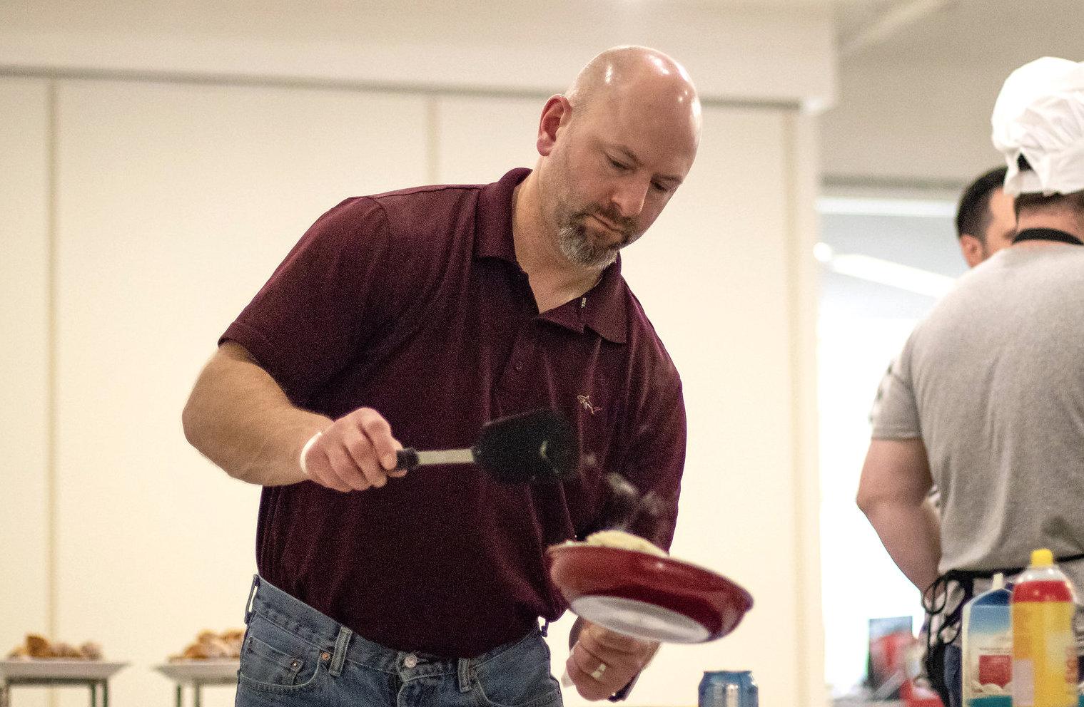The Predictive Index employee Matt Poepsel cooks Thanksgiving dinner