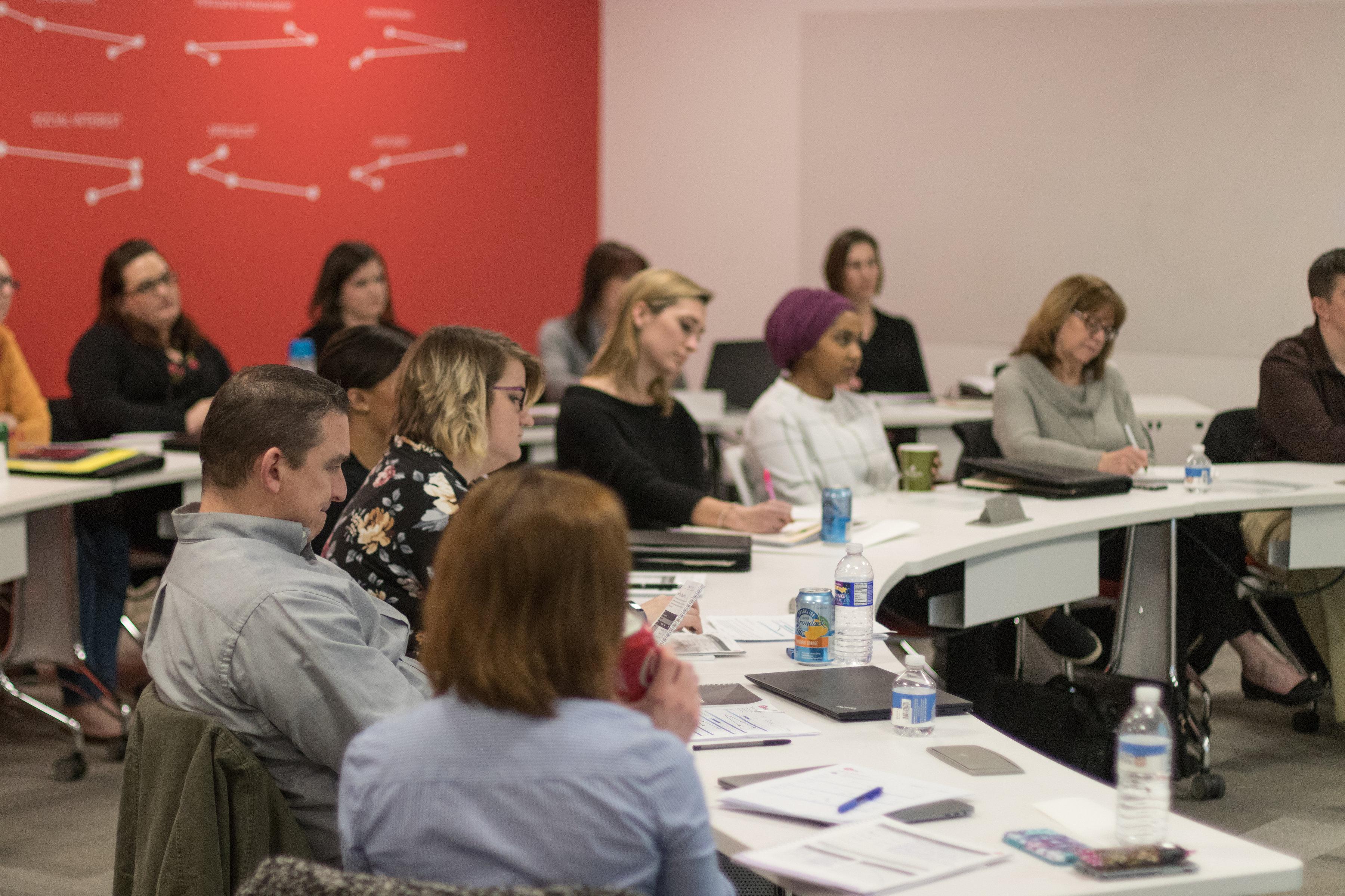 leaders in a workshop