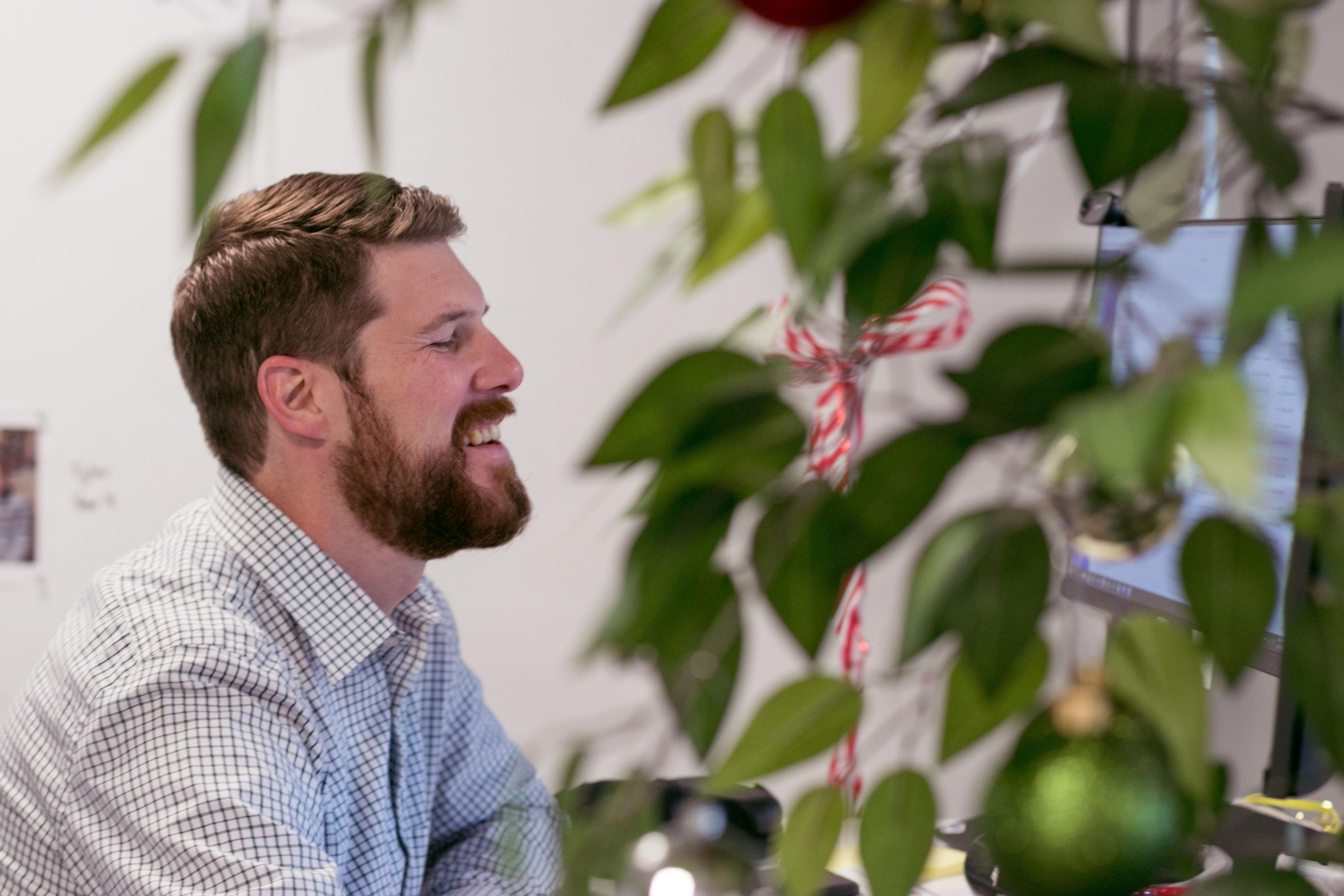 Adam laughing