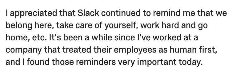 Slack belonging