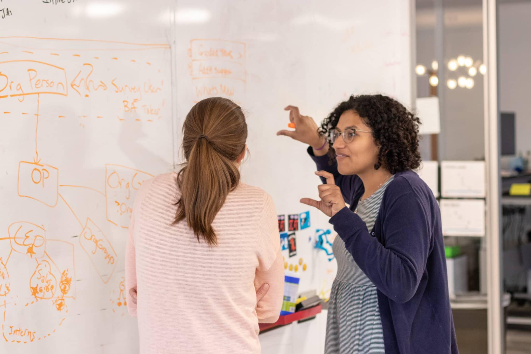 PI employees going through business process improvement