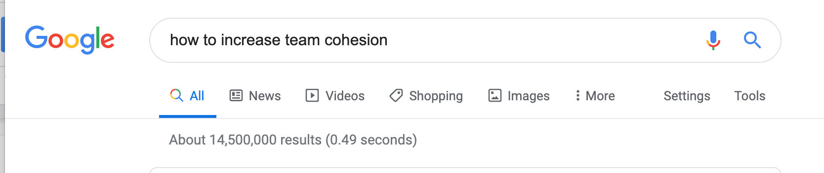 How to increase team cohesion Google results