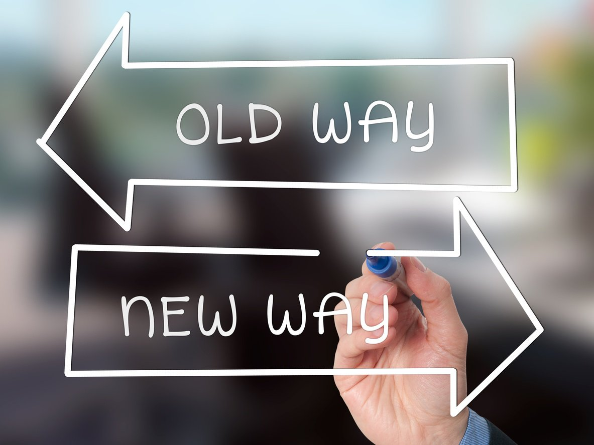 Old way, new way workplace change