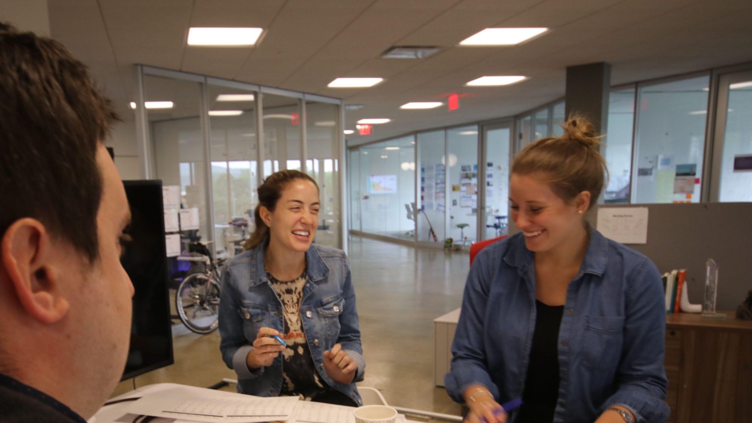 Jill and Marissa laughing