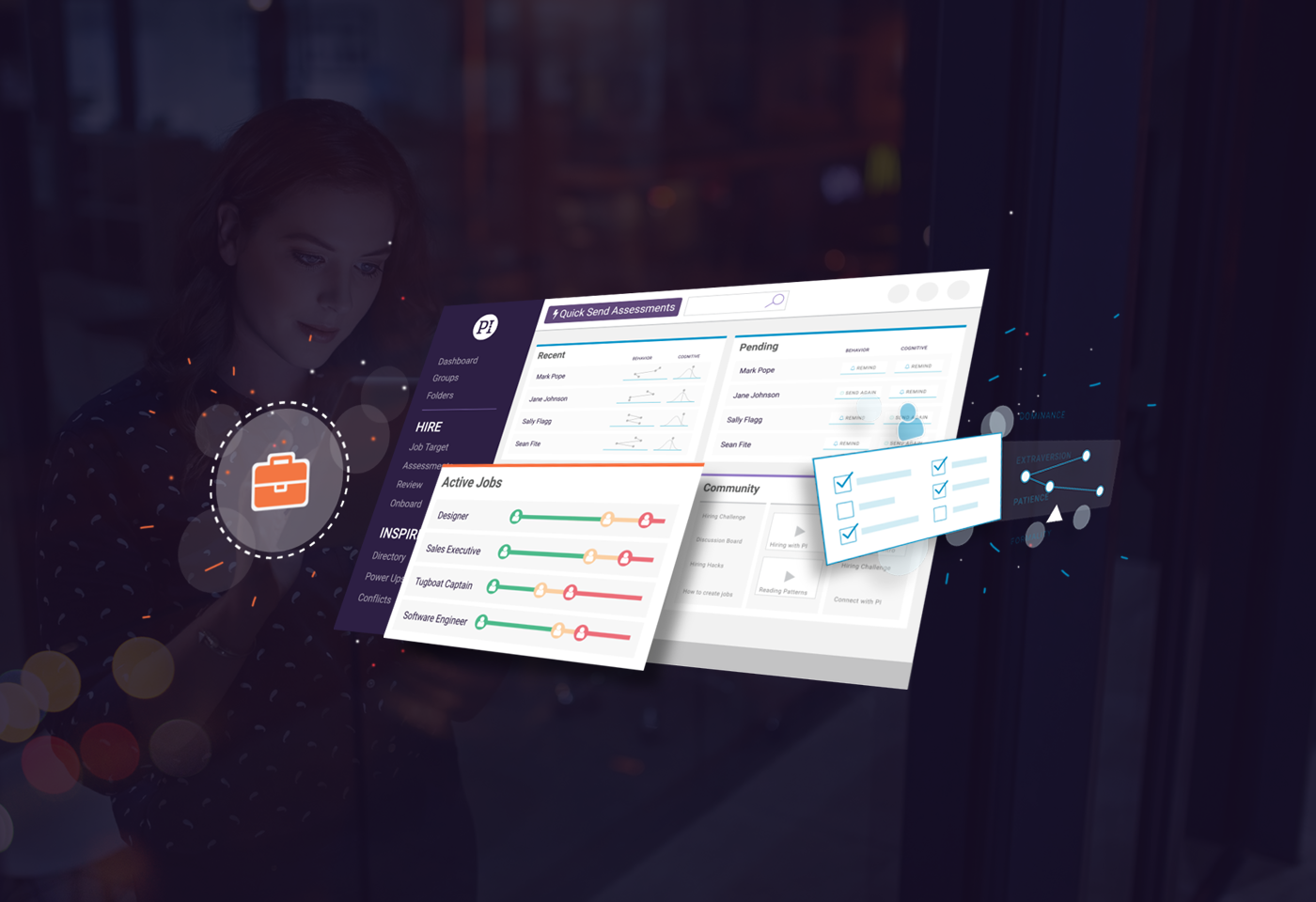 PI platform overview header