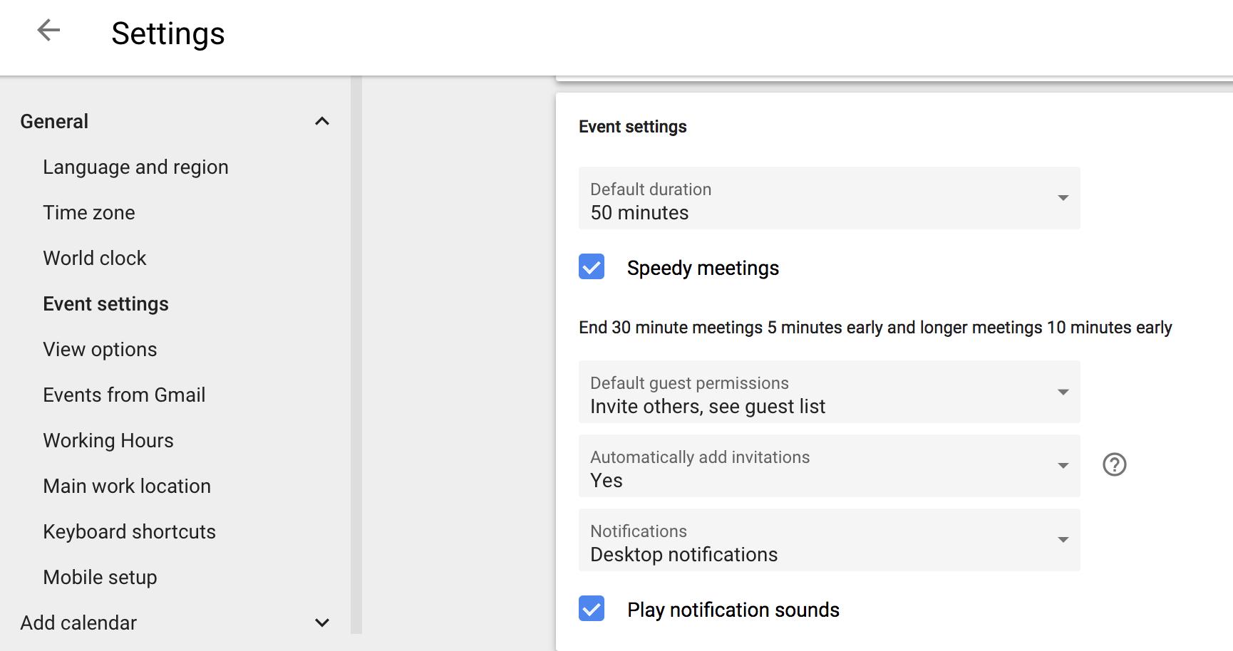 Use Google's speedy meetings function to ensure meetings start on time