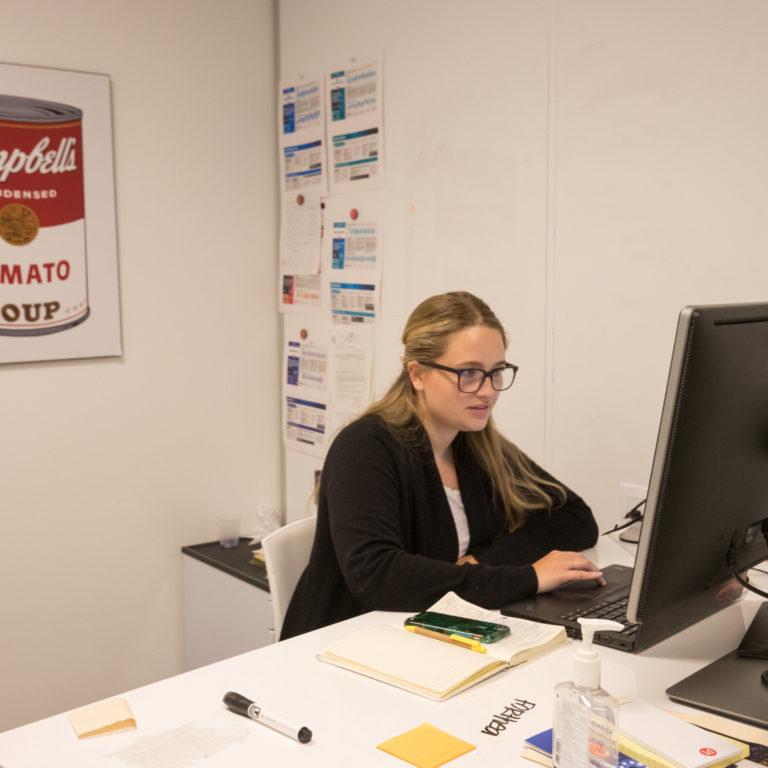 human resources director at desk