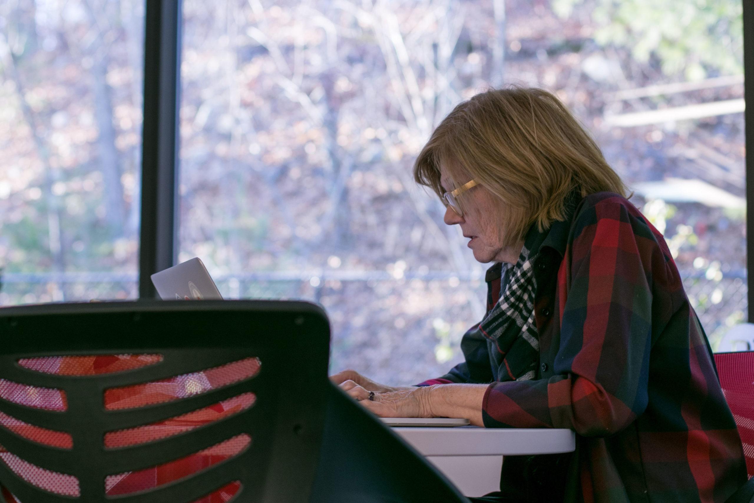 self-aware woman at work