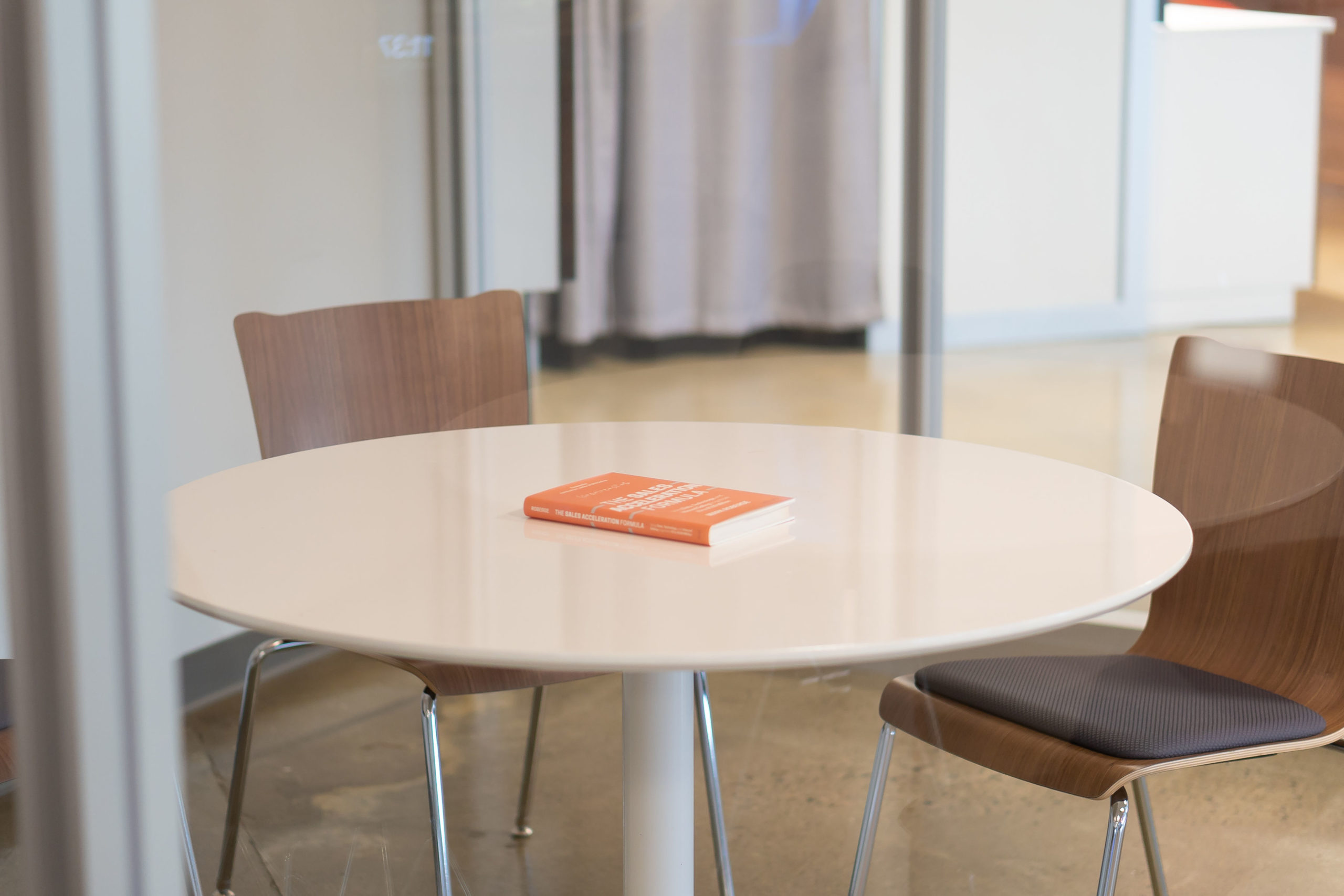 leadership book on a table