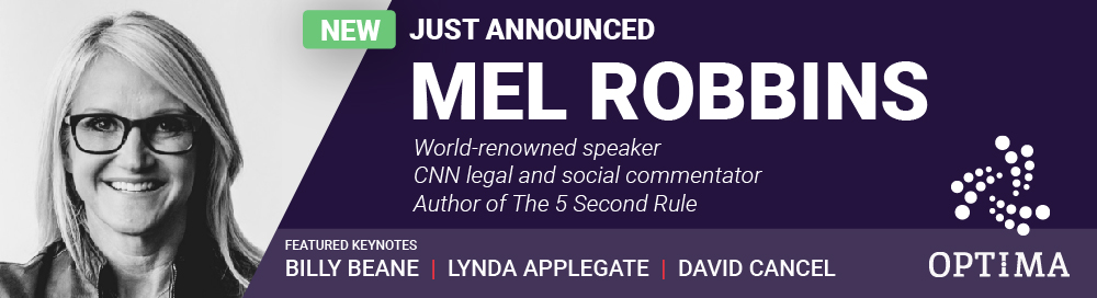 Mel Robbins to keynote OPTIMA