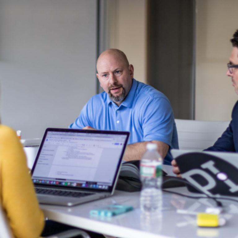 team assembled to solve client crisis