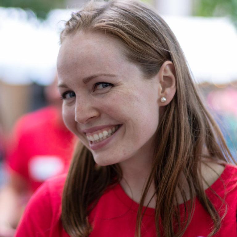 Amanda smiling outdoors