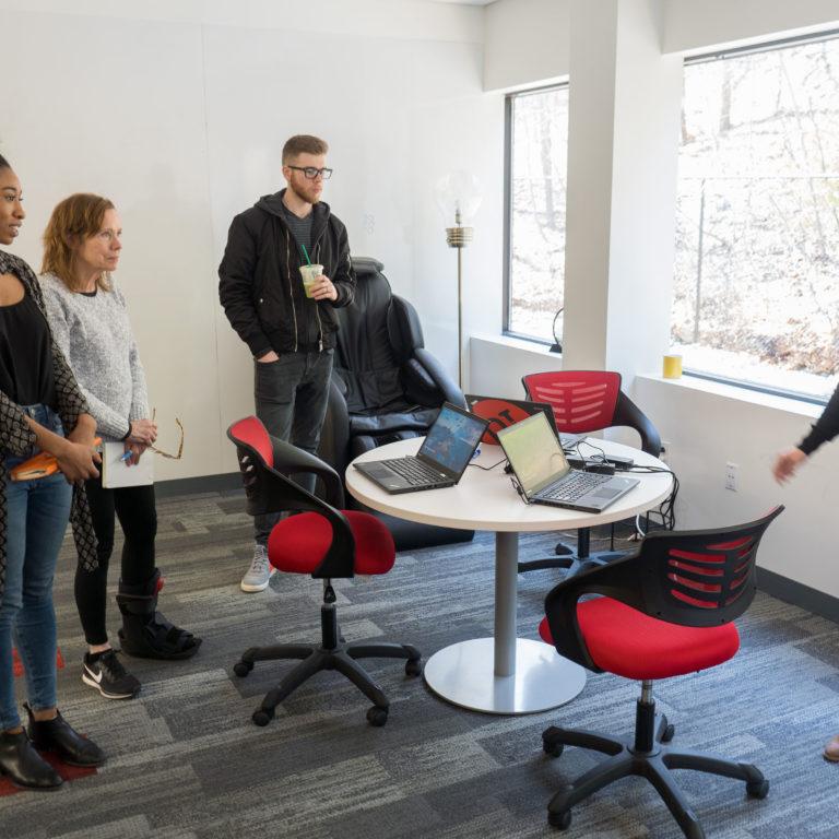happy employees learning something new