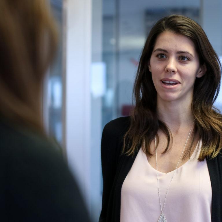 employee speaking