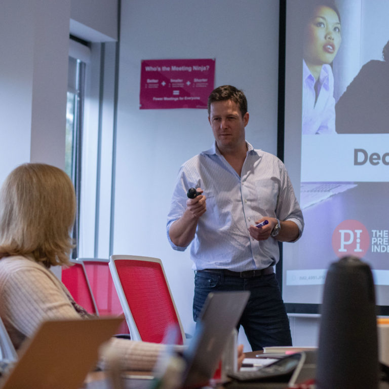 partner presenting