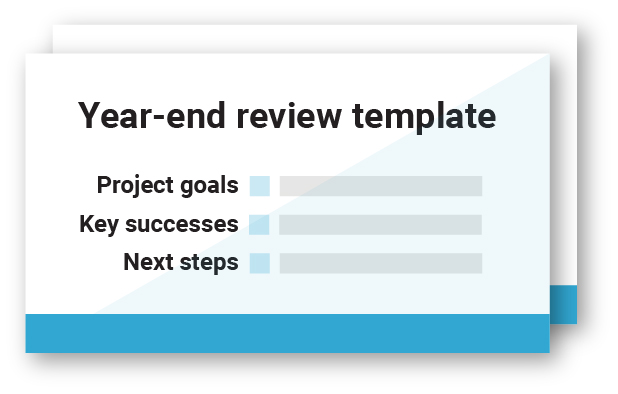 end of year review template