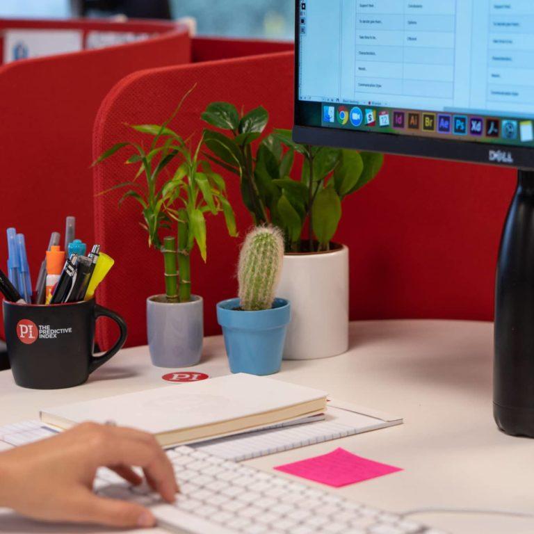 PI employee's desk