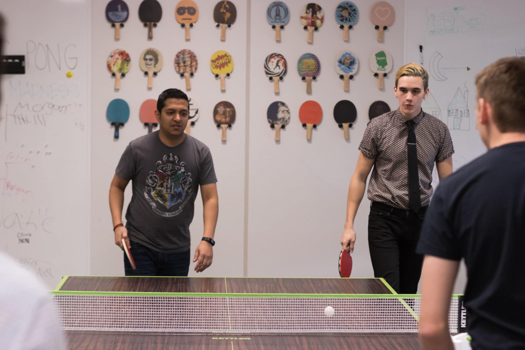 PI ping pong players