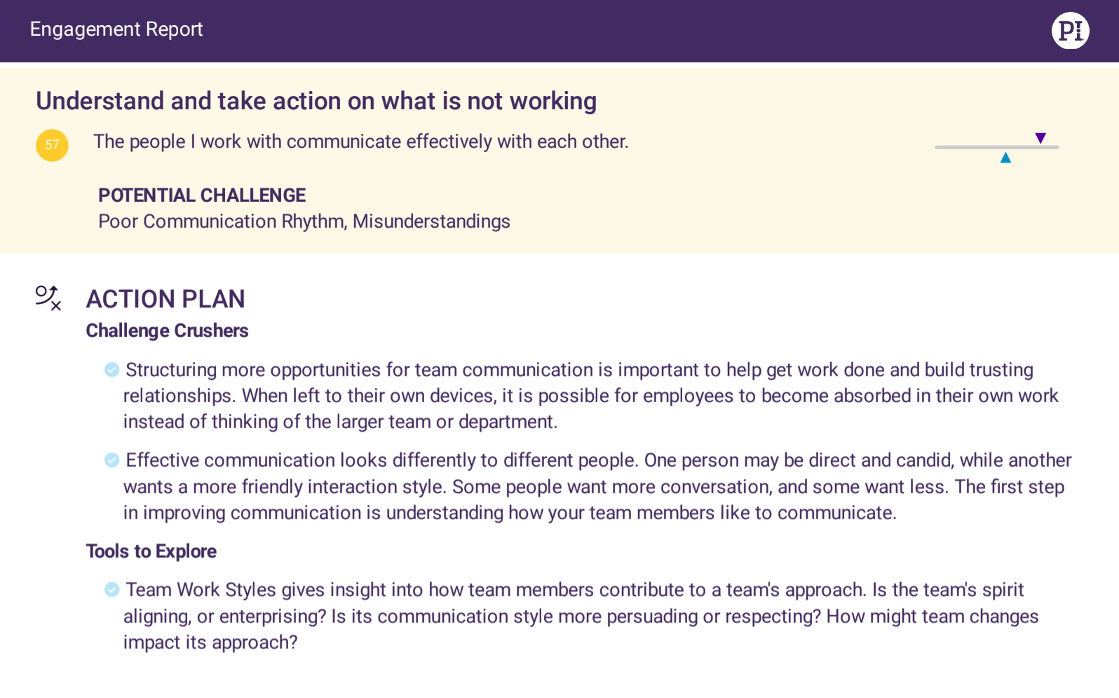 Employee Experience survey action plan example