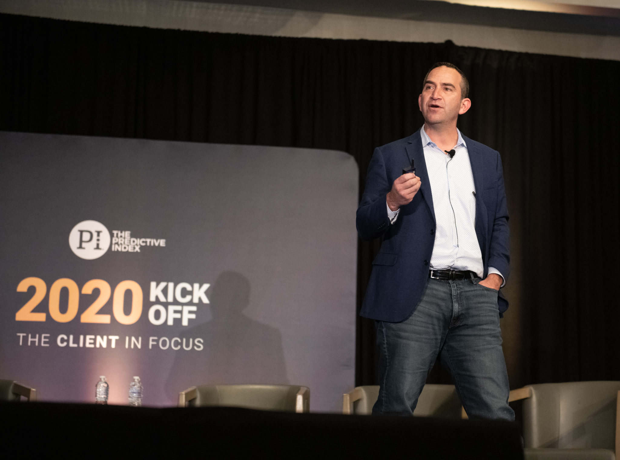 Daniel speaking at kick-off