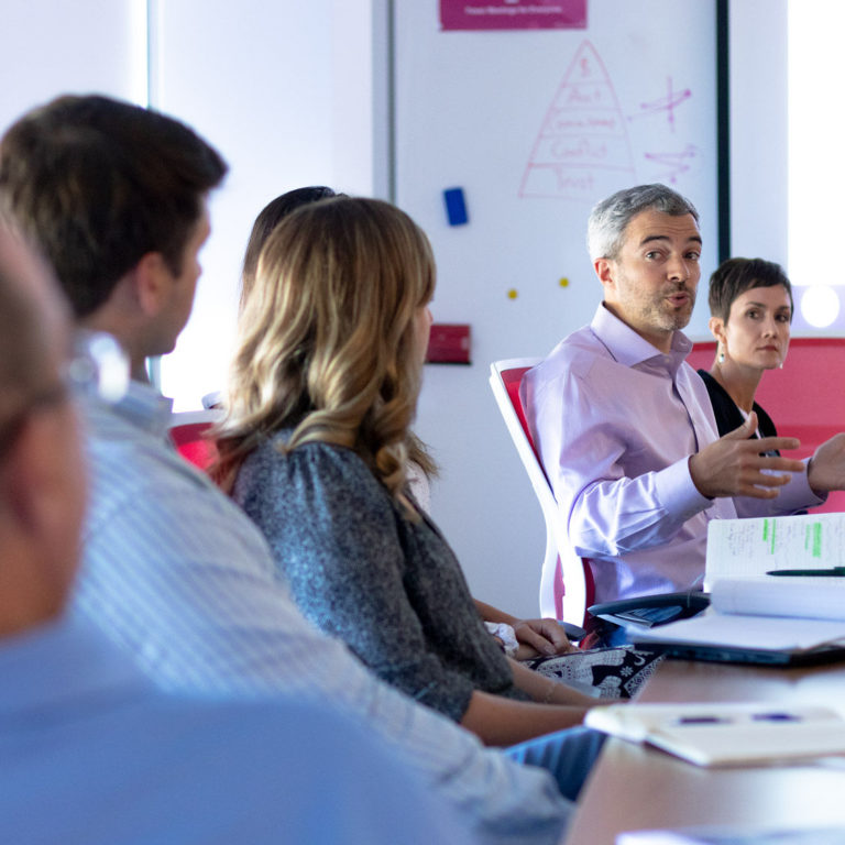 executive making the case for investing in employee engagement