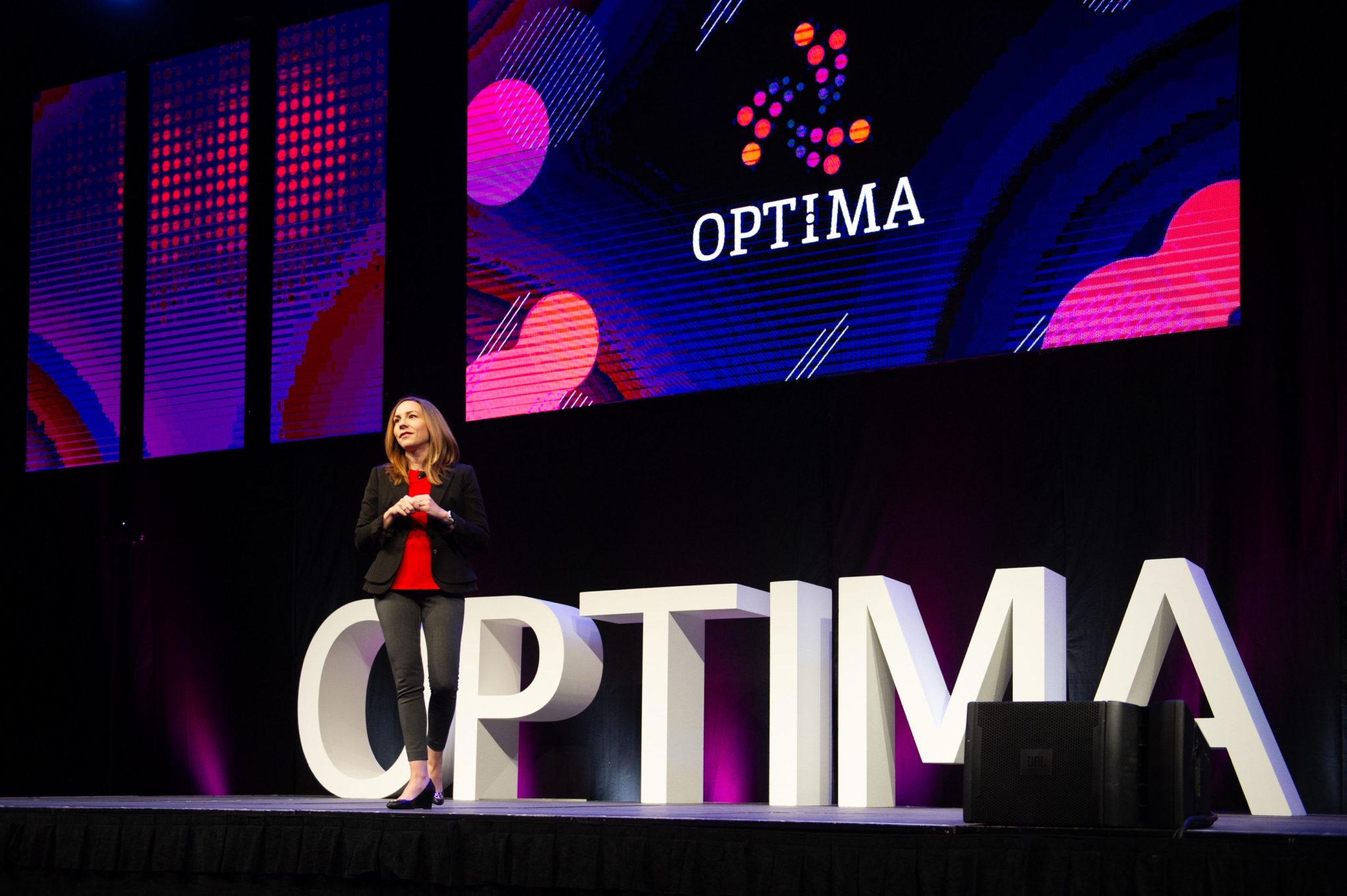 Jenny Mobius presenting at OPTIMA 2019