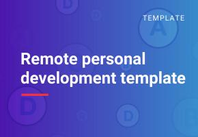 remote personal development template image