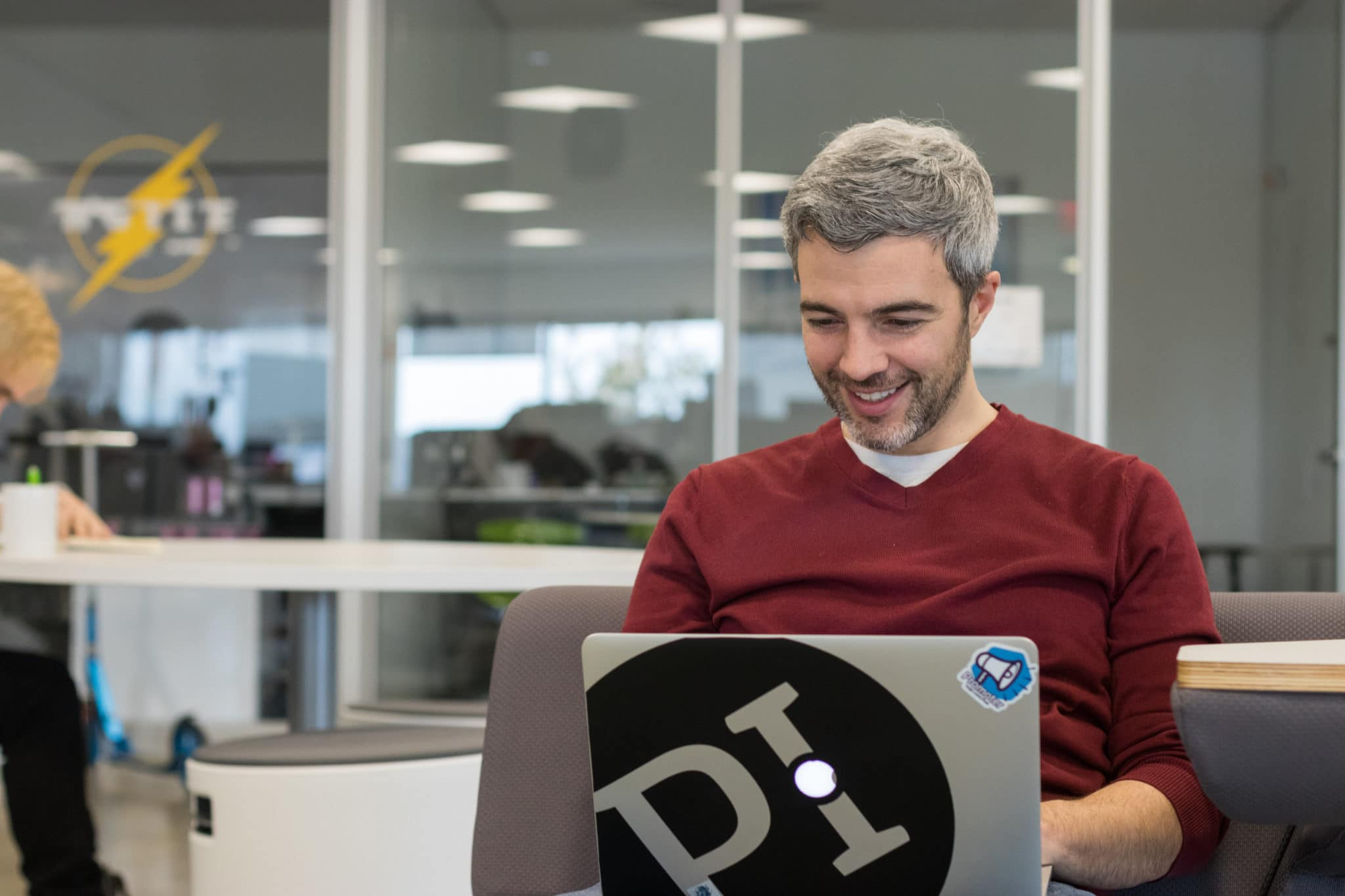 A PI employee building trust through virtual meetings