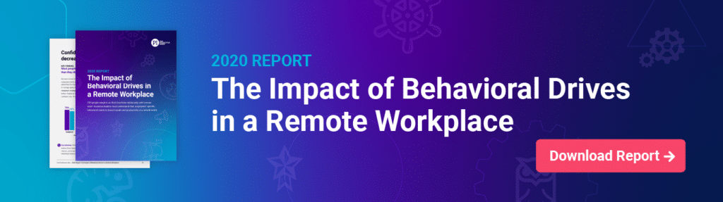The Predictive Index's 2020 report, The Impact of Behavioral Drives in a Remote Workplace