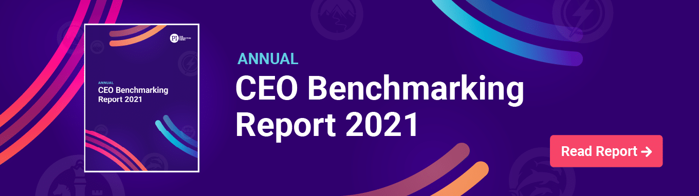2021 CEO Benchmarking Report banner