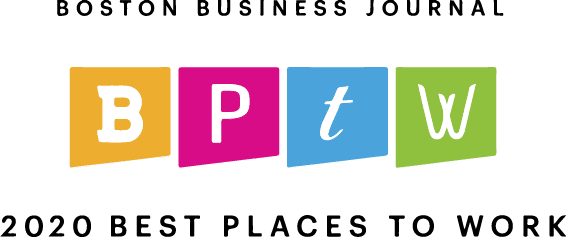 Logo for Boston Business Journal's 2020 Best Places to Work