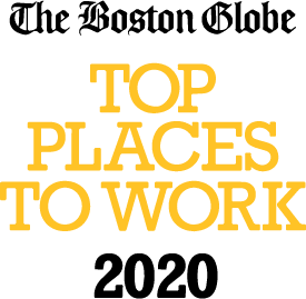 Logo for The Boston Globe's Top Places to Work 2020