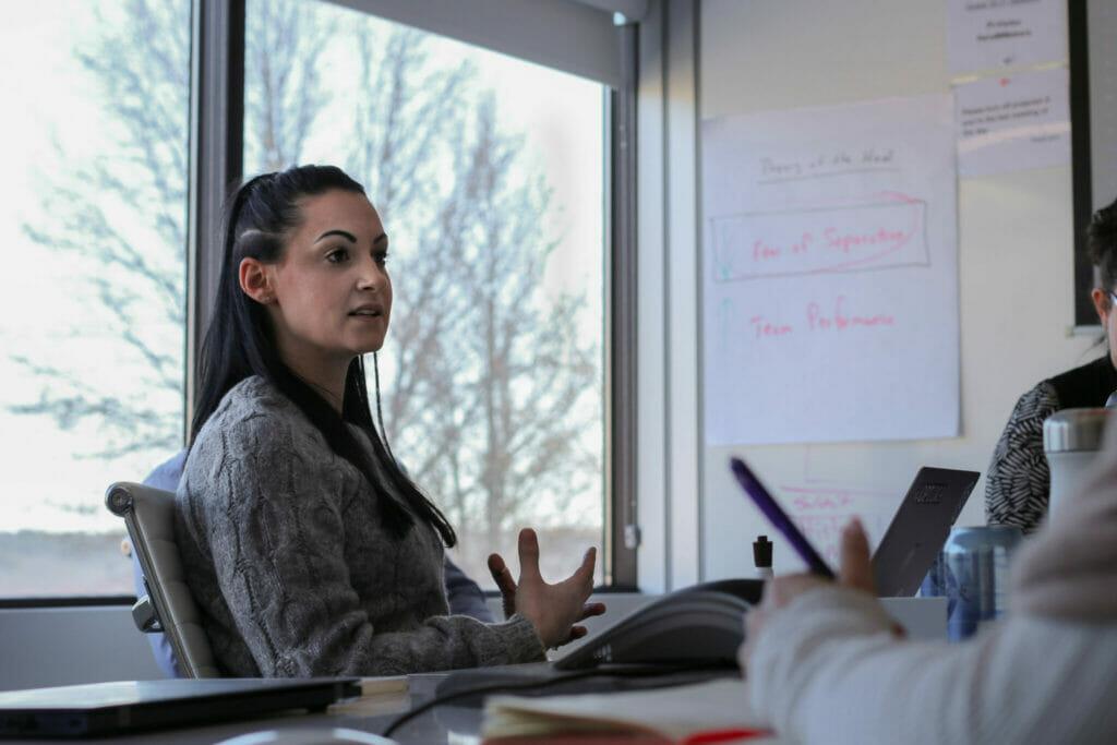 hiring a salesperson at an interview