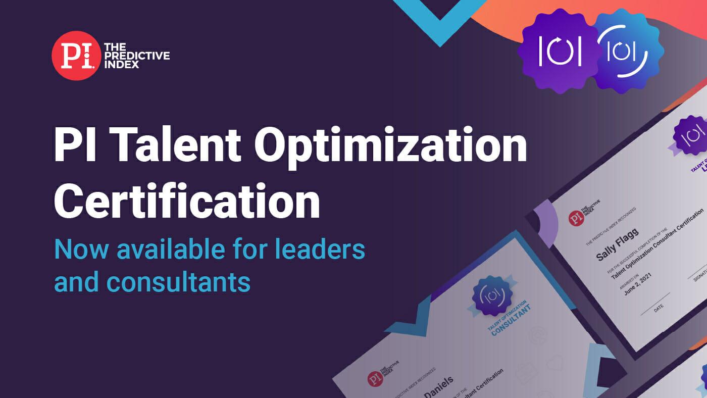 PI Talent Optimization Certification